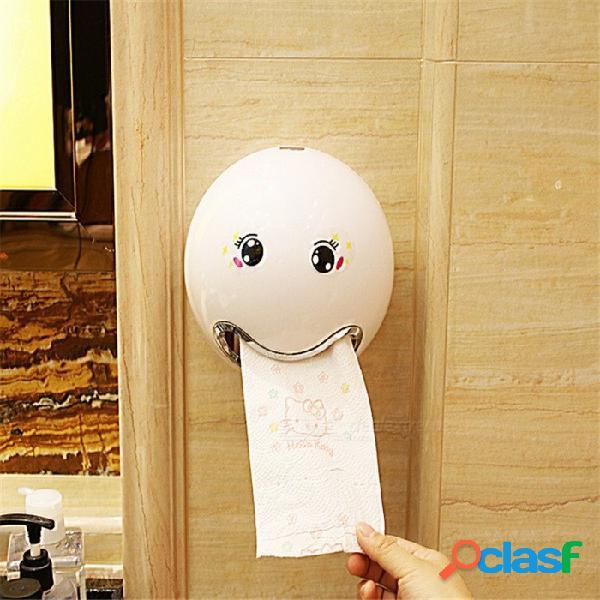Cajas de pañuelos de expresión facial creativa cajón de inodoro de baño caja de papel resistente al agua