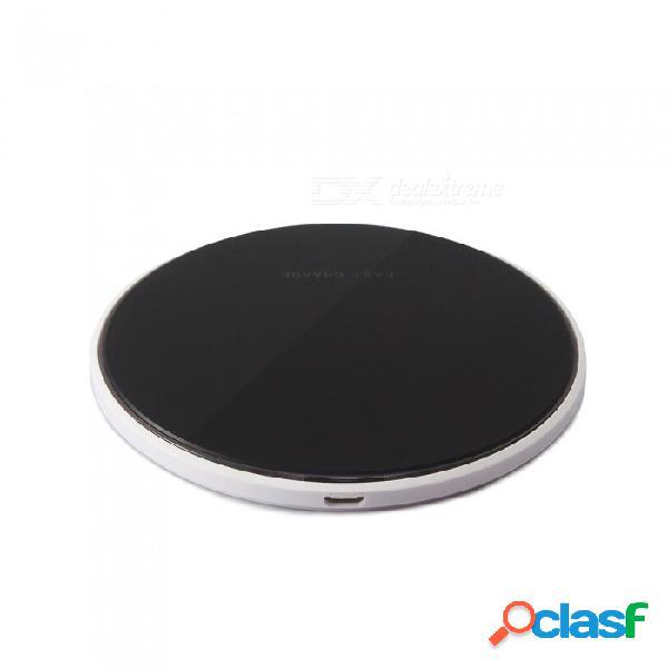 Cargador inalámbrico qi ultrarrápido y ultra delgado para iphone x / 8 / 8 más / samsung / lg / xiaomi