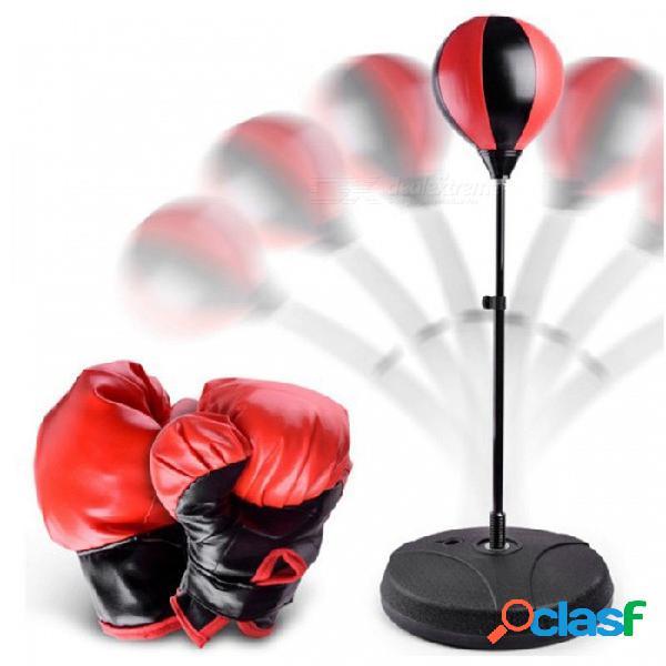 Conjunto de pelota de boxeo inflable ajustable vertical, guantes de boxeo de los deportes de interior de los niños de juguete