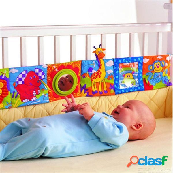 Cuna bebé almohadillas de parachoques de dibujos animados niño cama parachoques amortiguador 92 x 14 cm