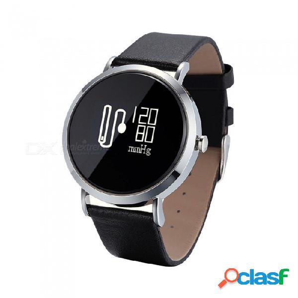 Cv08 ip67 pulsera inteligente impermeable con pantalla táctil redonda, monitor de ritmo cardíaco, monitor de sueño, reproducción de música