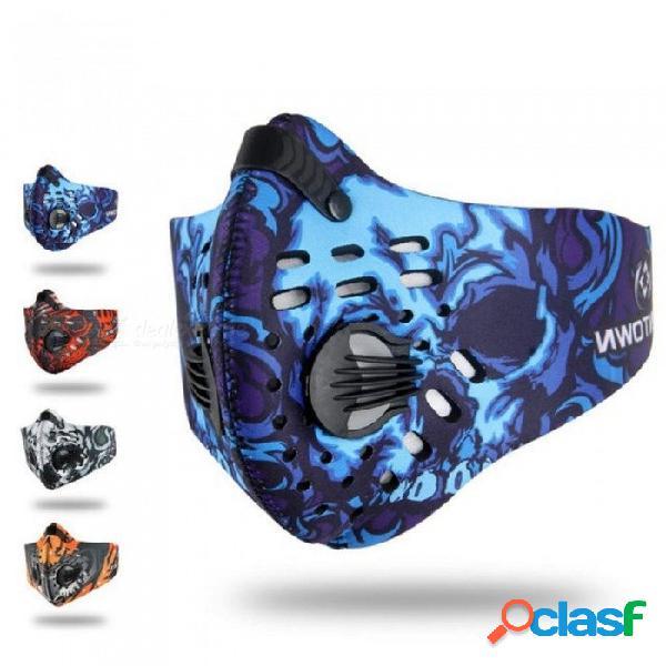 Máscara de ciclismo hombres, mujeres, deportes, mascarillas, protección contra la contaminación, polvos, mascarilla, ciclismo, bisiklet, maske, bicicleta de mtb, máscara