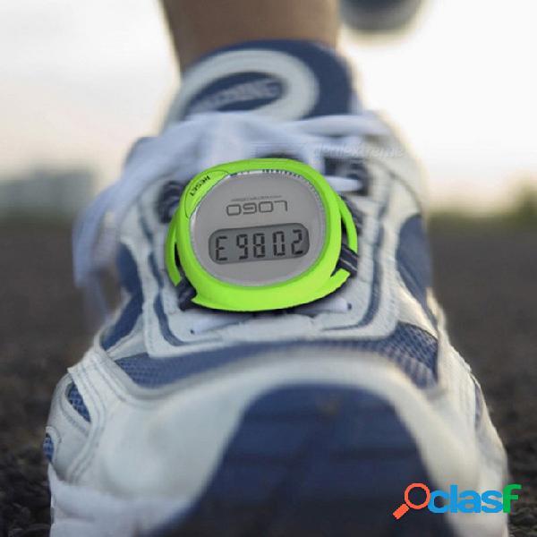Pantalla lcd de alta calidad a prueba de salpicaduras deportes contador de pasos podómetro caminar se puede atar a los zapatos (color aleatorio) color al azar