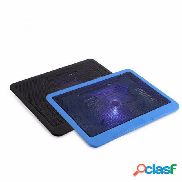 Portátil super silencioso enfriador ventilador de refrigeración base, usb soporte ventilador grande para 14 quot computadora portátil notebook color aleatorio