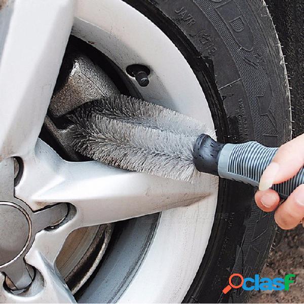 Accesorios para el automóvil cepillo de ruedas cepillo para el lavado de carros cepillo de agarre de goma suave herramienta de limpieza de automóviles suministros cepillo de lavado de autos