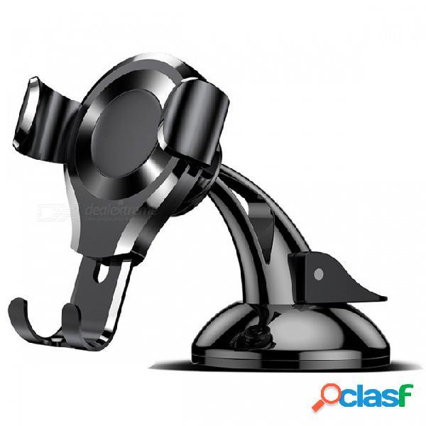 Baseus soporte para teléfono universal para coche reacción por gravedad soporte para teléfono móvil flexible para iphone x 8 7 samsung xiaomi huawei