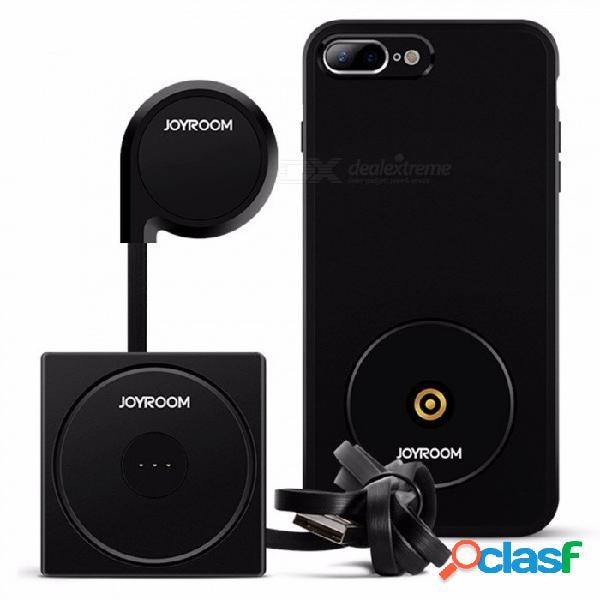 Cargador inalámbrico magnético universal del coche portátil, plataforma de carga para iphone 7 más negro