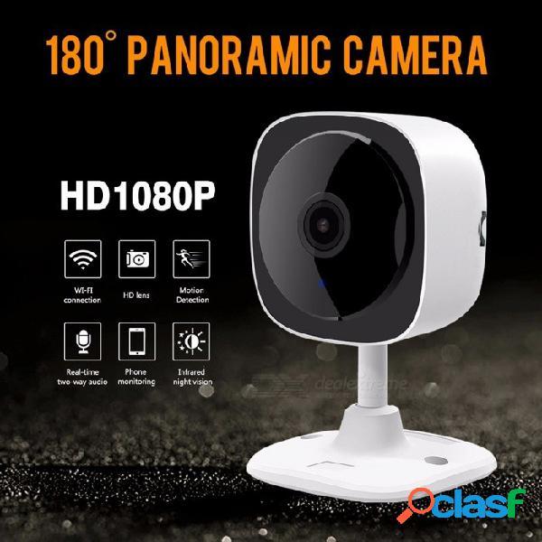 Hd 1080 p cámara ip de ojo de pez wifi inalámbrica mini cámara de red visión nocturna ir corte cámara de seguridad doméstica wifi monitor de bebé enchufe de la ue
