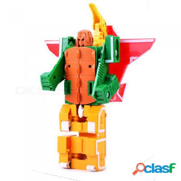Juguete educativo del modelo del robot del dinosaurio de la deformación de tres letras de efg para los niños