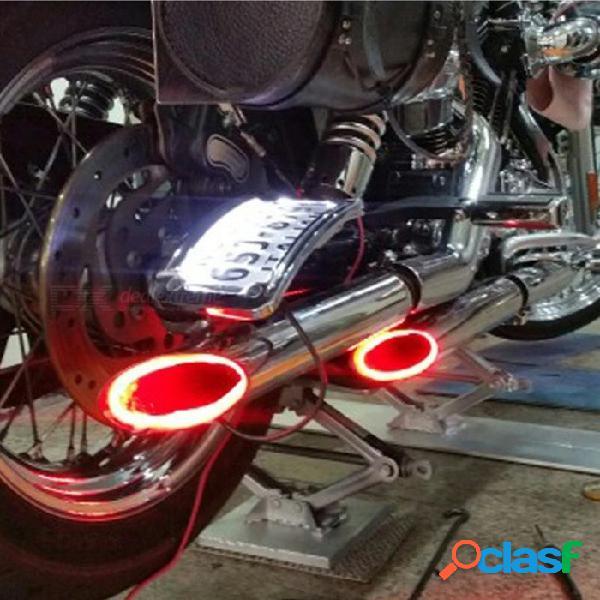 Luz de la motocicleta led, lámpara de tubo de escape de la moto, indicador de disparo de advertencia, multi estabilidad de la luz de la estabilidad de la vespa