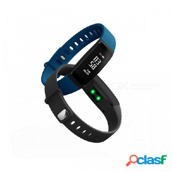 Pulsera bluetooth deportivo pulsera inteligente con podómetro, monitorización del ritmo cardíaco o caminar, correr, trotar