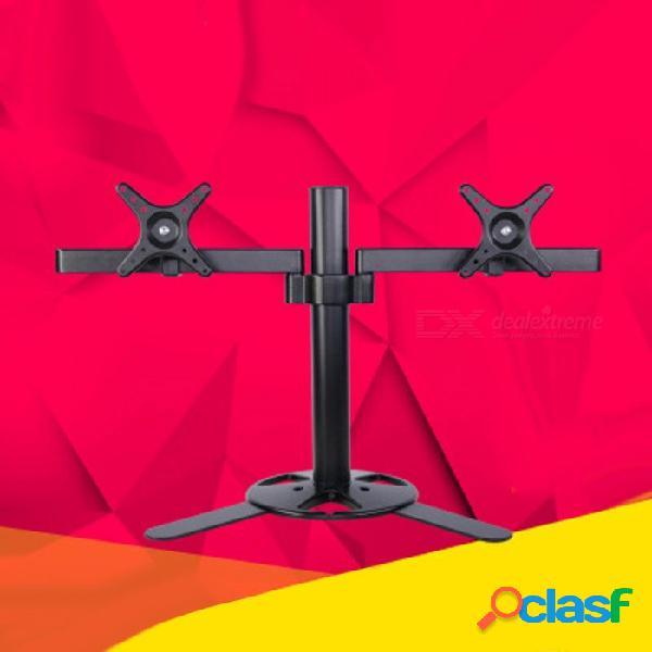 """17-27"""" soporte de pantalla dual de escritorio soporte de monitor de montaje en tv 2 soporte de monitor lcd 2 pantallas soporte de monitor negro negro"""