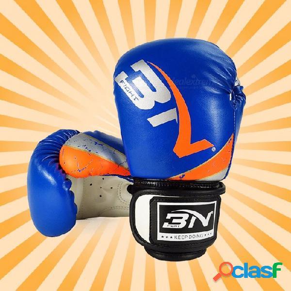 Guantes de boxeo para niños profesional sanda muay thai boxeo arena-bolsa guantes competencia lucha entrenamiento combates conjuntos blanco