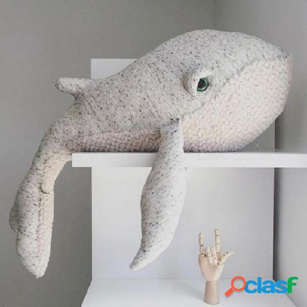 Lindos animales delfines pulpo cojín almohada rellenas muñecos de peluche tranquila sueño juguetes estilo nórdico niños accesorios de foto dormitorio decoración pulpo