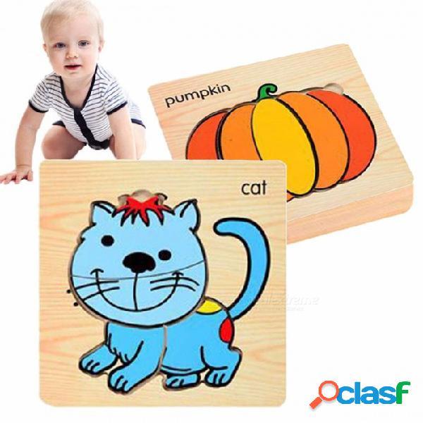 Placa de embrague de madera de aves de corral juguete de madera, juguete educativo de la primera infancia para niños con capacidad cognitiva (8 pcs) amarillo