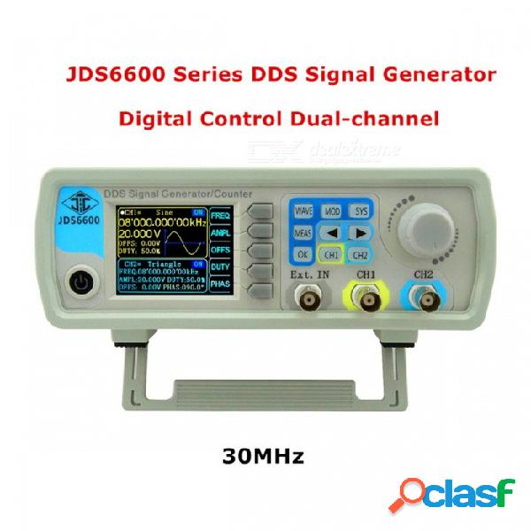 Rd jds6600 serie control digital de doble canal dds función generador de frecuencia medidor de frecuencia forma de onda sinusoidal arbitraria