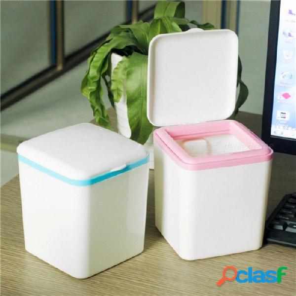 Creativo mini cubo de basura de basura portátil mini pequeño cubo de basura de basura contenedor de basura cielo azul