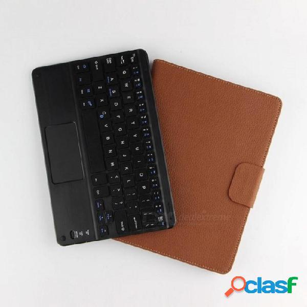 Funda protectora de bluetooth teclado + funda de cuero pu protectora inteligente para huawei mediapad t3 10 ags-l09 / l03 tableta de 9.6 pulgadas + regalo marrón