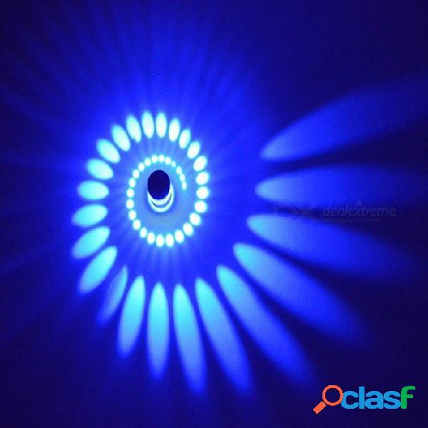 Lámpara de pared led moderna de 3w rgb de tanbaby, luz de aplique luminosa para la iluminación de la sala de estar del hogar (ac 85-265v) blanco cálido
