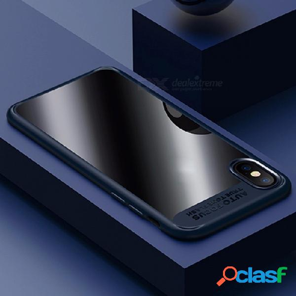 Usams premium ultra delgado delgado borde completo tpu amp acrílico contra arañazos contraportada, funda protectora para iphone x