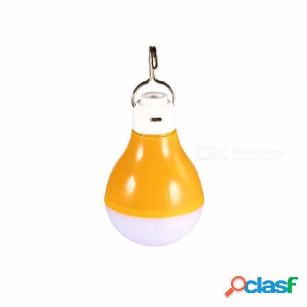 Danmeijia usb portátil led bombilla solar recargable lámparas solares de ahorro de energía para el hogar de camping pesca blanco / 7 w / amarillo