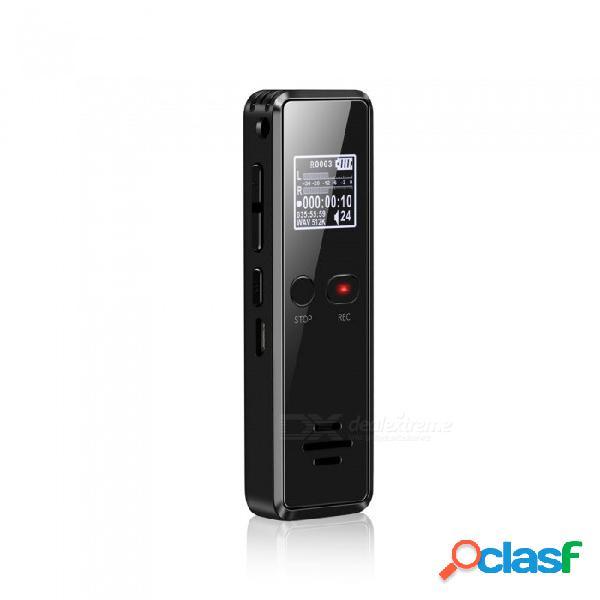 Grabadora de voz digital quelima compatible con reproducción de música por voz reducción inteligente de ruido grabación con un solo clic 8g