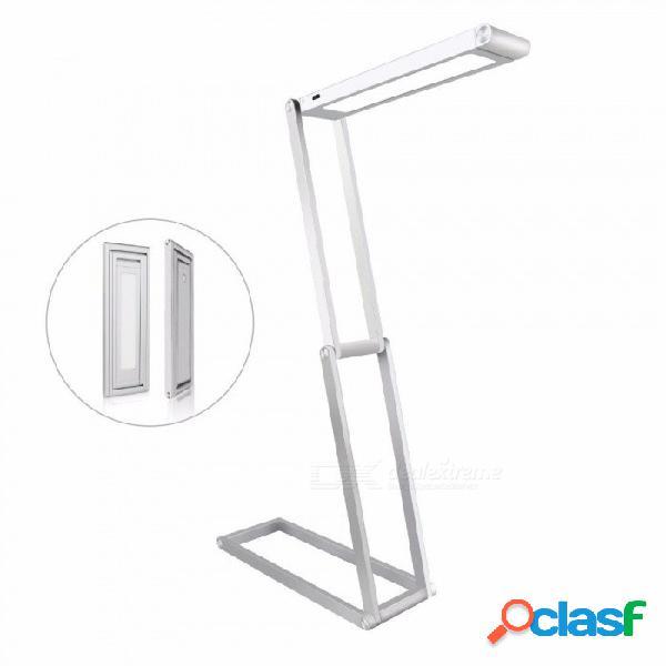Lámpara de mesa led de carga usb con 2 niveles de rotación de 4 grados y rotación de 360 grados - plata / dorado