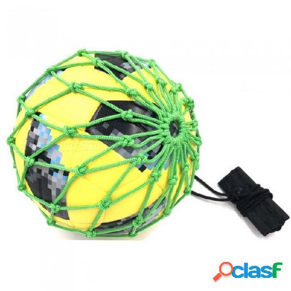 Manejar entrenador de fútbol solo con pelota nueva bola de fútbol neta bloqueada bungee entrenamiento elástico malabares tamaño neto 3, 4, 5 gris