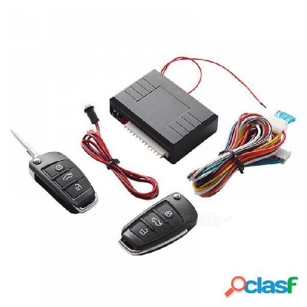 Sistema universal de auto sin llave sistema de entrada botón de inicio led llavero kit central cerradura de la puerta con control remoto
