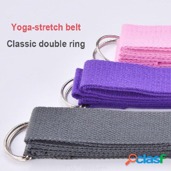Bandas elásticas para ejercicios de ejercicios deportivos cintura piernas yoga algodón estiramiento correa ajustable correa de tensión 180 cm