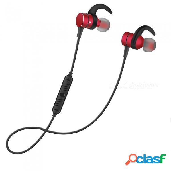 Cancelación de ruido ojade en auriculares bluetooth inalámbricos 4.2 auriculares inalámbricos inteligentes con interruptor magnético - rojo