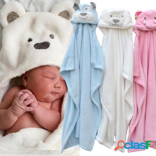 Lindo animal forma bebé con capucha albornoz toalla de baño paño grueso y suave del bebé que recibe una manta neonatal mantenga para ser niños niños