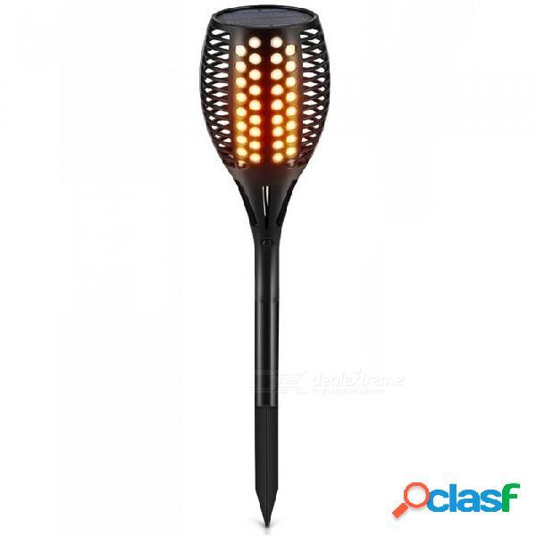 P-top, con energía solar, parpadeo, antorchas de llama, luz para jardín exterior, camino de jardín, decoración de césped