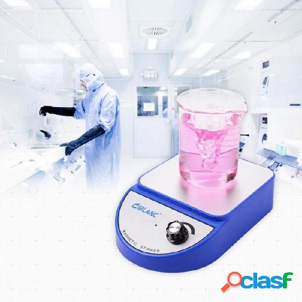 Química de laboratorio agitador magnético mezclador magnético mezclador agitador magnético placa caliente 3500 rpm máxima agitación con barra de agitación azul de potencia