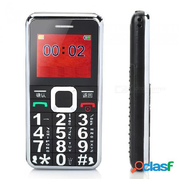 Teléfono móvil con botón grande desbloqueado para personas mayores mayores con botón sos, fm, altavoz