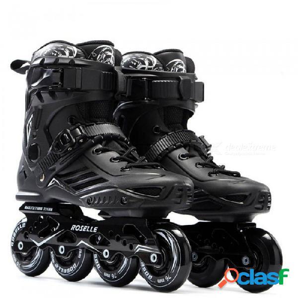 Patín s6 patines en línea profesional slalom adultos patinaje sobre ruedas patinaje libre deslizante bueno como seba patines adulto 35 / negro