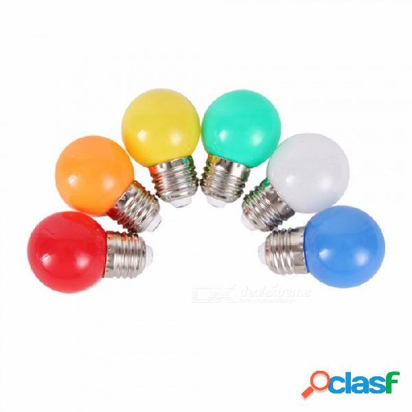 Bombilla led de colores e27 3w bombillas de bajo consumo bombilla led para iluminación doméstica 7 colores 3w / no / blanco