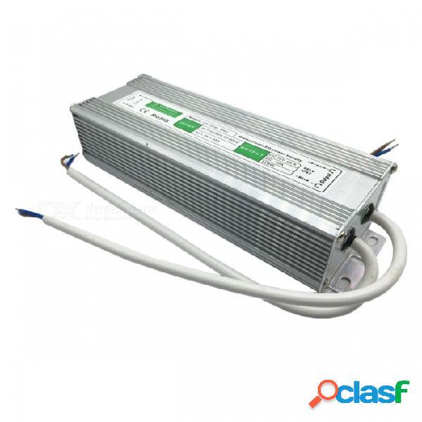 Fuente de alimentación de conmutación 12v 10a 120w para pantalla led / luz de tira / monitor de seguridad - plateado