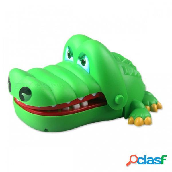 Genial caricatura cocodrilo dentista broma mordaza truco juguete divertido juego familiar juguete interactivo - verde