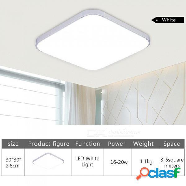 Lámpara de luz de techo de panel led cuadrado de 18 w ca 220 v lámpara de iluminación downlight led blanco frío para el dormitorio de su hogar, sala de estar blanco / 16-20w / blanco frío