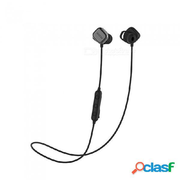 Qcy m1 pro magnético interruptor de auriculares bluetooth con micrófono, auriculares inalámbricos, auriculares ipx4 deportivos auriculares estéreo aptx negro