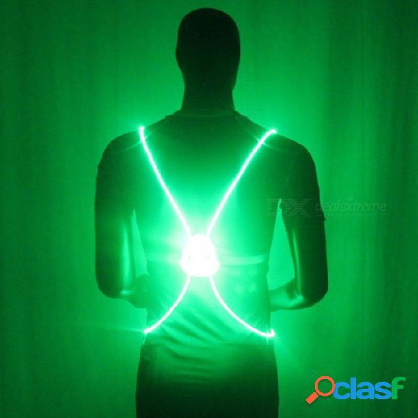 Luz De Ciclismo, Chaleco De Conducción Nocturna, Color Reflectante LED, Luz Trasera Para Bicicleta, Luz De Seguridad Nocturna, Luz De Advertencia De Bicicleta