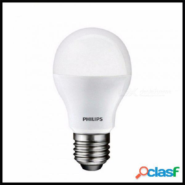 Bombilla led de plástico e27 de philips, bombilla esférica de bajo consumo para lámpara de mesa, iluminación interior de interiores blanco cálido / 4w / blanco