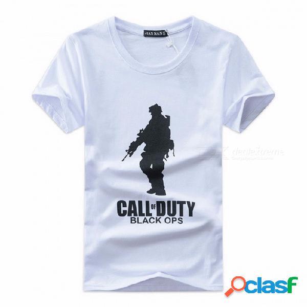 Camisetas para hombre al aire libre ejército swat camiseta soldado de combate camisetas de manga corta para hombres imprimir camisetas transpirables negro / m