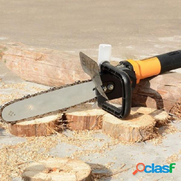 Eléctrica cadena de bricolaje convertidor sierra de cadena motosierra árbol tala sierra cambió amoladora angular en sierra de cadena para m10 herramienta para trabajar la madera 1 unids