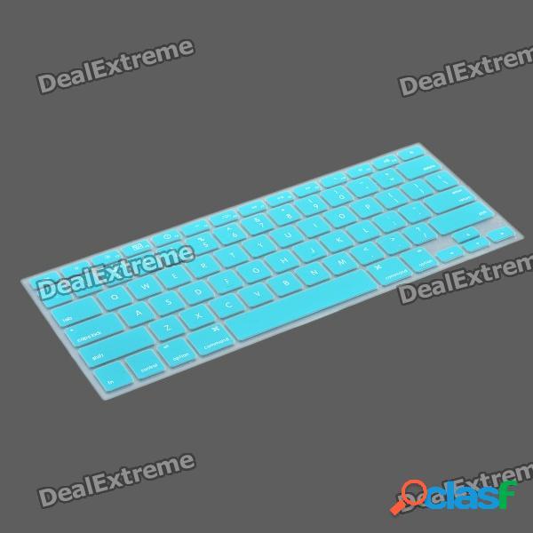 Funda protectora para teclado con kit de tapones antipolvo para apple macbook air / pro - azul claro