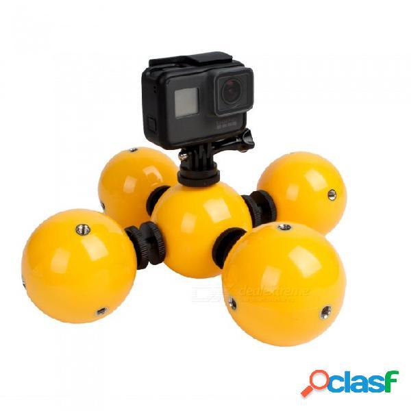 Juego de balón flotante ismartdigi i453 para gopro hero 2 3 3+ 4 sesión 5 6 luz led sj4000 - amarillo