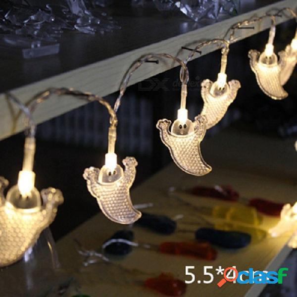 10 led que cuelga halloween decoración fantasma led luces de cadena linternas lámpara para el hogar al aire libre bricolaje suministros de fiesta cálido blanco / 0-5w