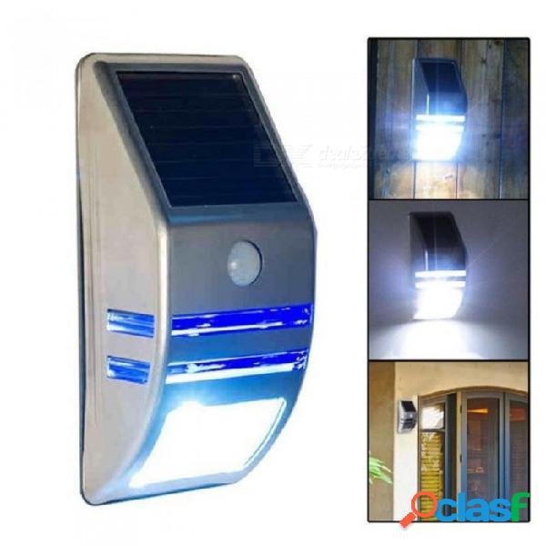 Leds exterior sensor de movimiento solar pir lámpara de poste de luz de pared de seguridad lámpara de poste de fácil instalación y lámpara solar resistente al agua a