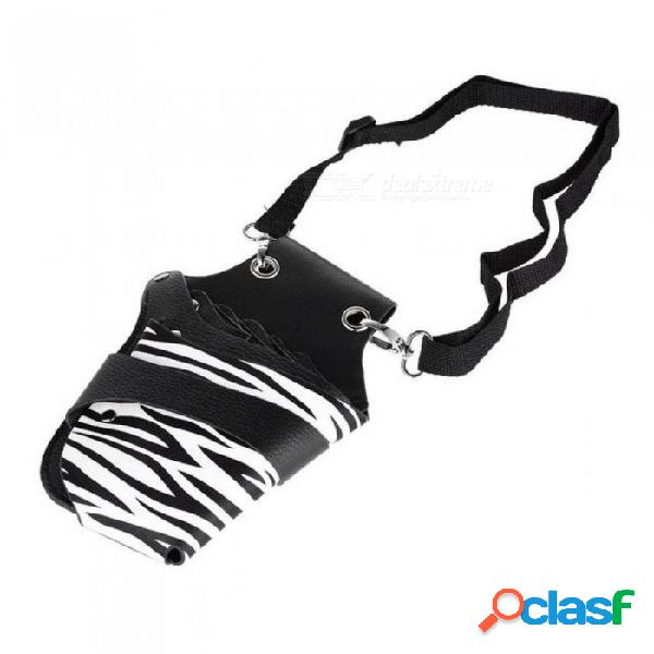 Pu cuero remaches clips pelo tijera holster salon bolsa de peluquería bolsa para estilista con cintura cinturón negro